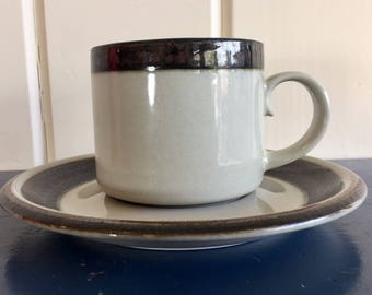 Vintage Arabia Karelia cup and saucer from 1970 by Anja Jaatinen-Winqvist, Finland