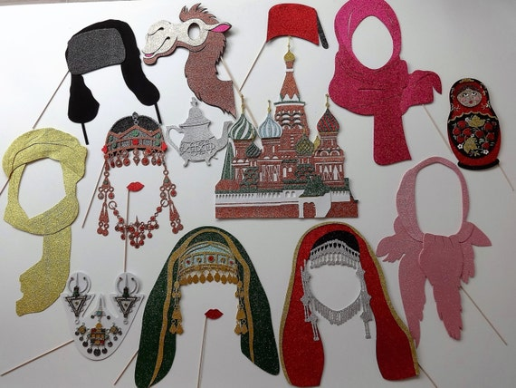 Russian Photo Booth Props Matryoshka Moscow Kremlin Middle East
