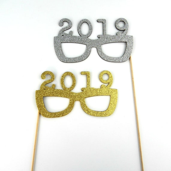 2019 New Years Photo Booth Glasses Celebration New York Years End