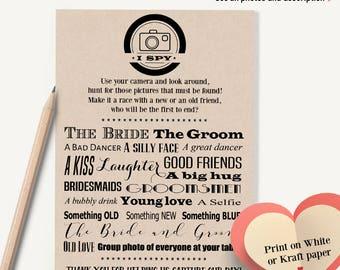 i spy wedding game etsy