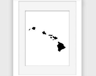 Hawaii print, printable Hawaii wall art, Tropical, Beach decor, Instant Download Digital print A118