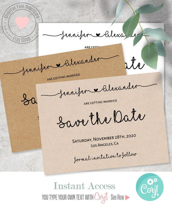 photograph about Printable Save the Date called Help save the Day, Marriage ceremony templates, Printable Help you save the day, Immediate obtain, Editable Template, S119