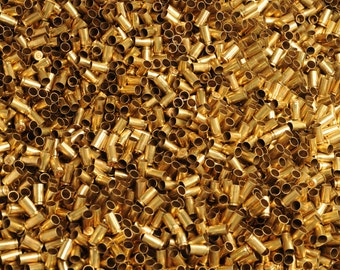 100 pcs - 9mm Brass Casing Bullet Shell for Jewelry and Crafts. Cleaned and Polished.