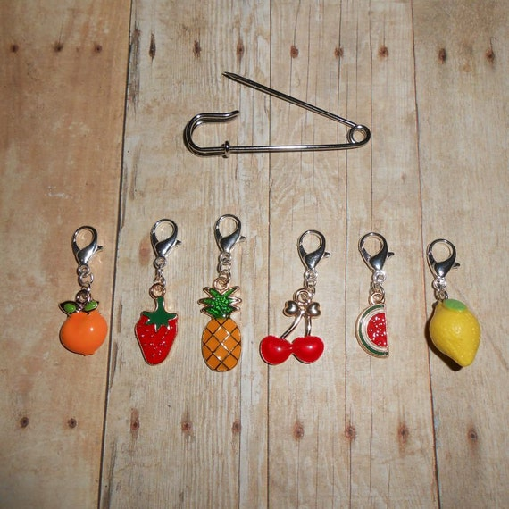 Fruit Stitch Markers Crochet Stitch Markers Planner Etsy