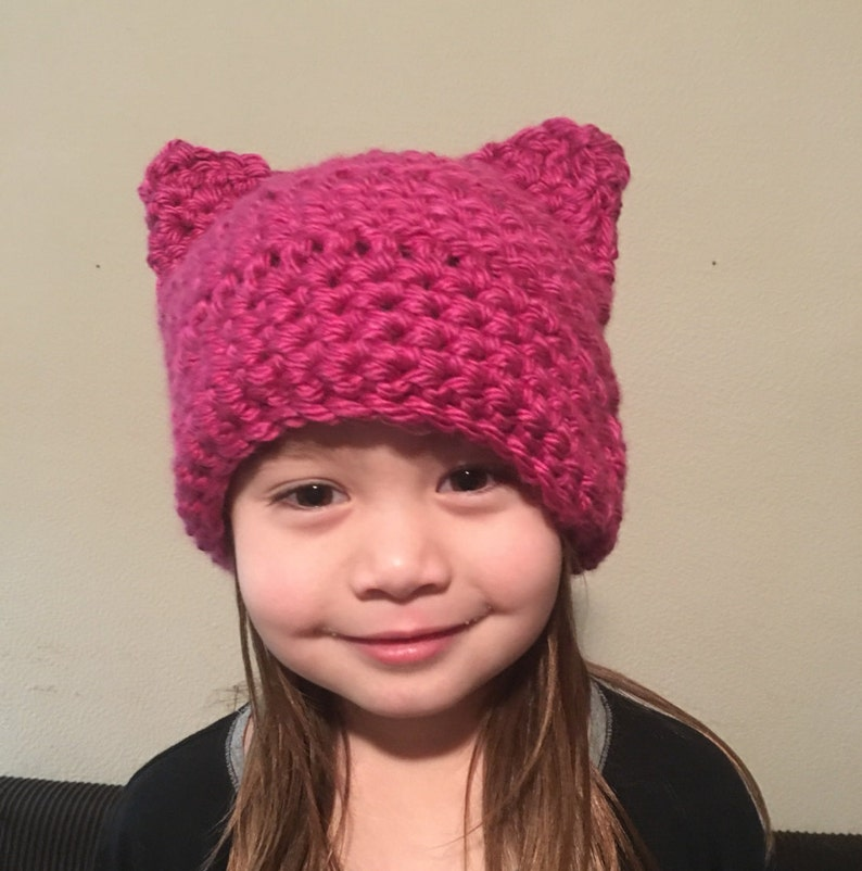 Women/'s Pink Berry Pussy Hat Project Kitty Beanie Women/'s March Pussyhat Cat Hat