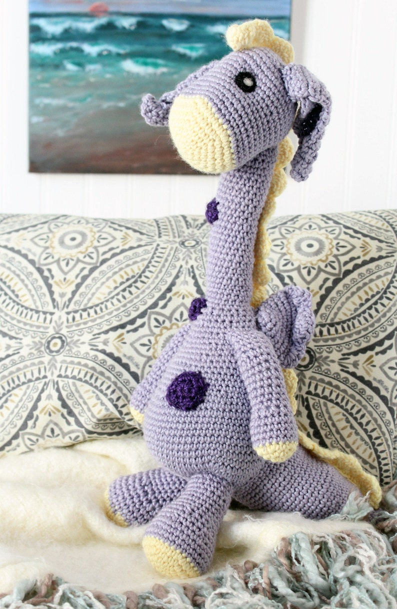 Dragon Plush Stuffed Toy Amigurumi Dragon Doll  Crochet image 0