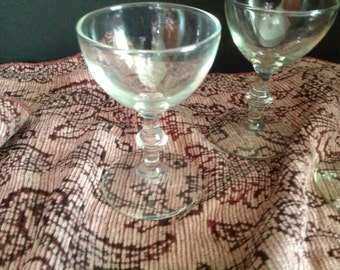 set of four liqueur liquor stemmed glasses