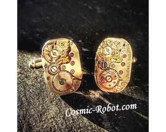 Handcrafted Steampunk Cufflinks, handmade Mens formal dress accessories, weddings.