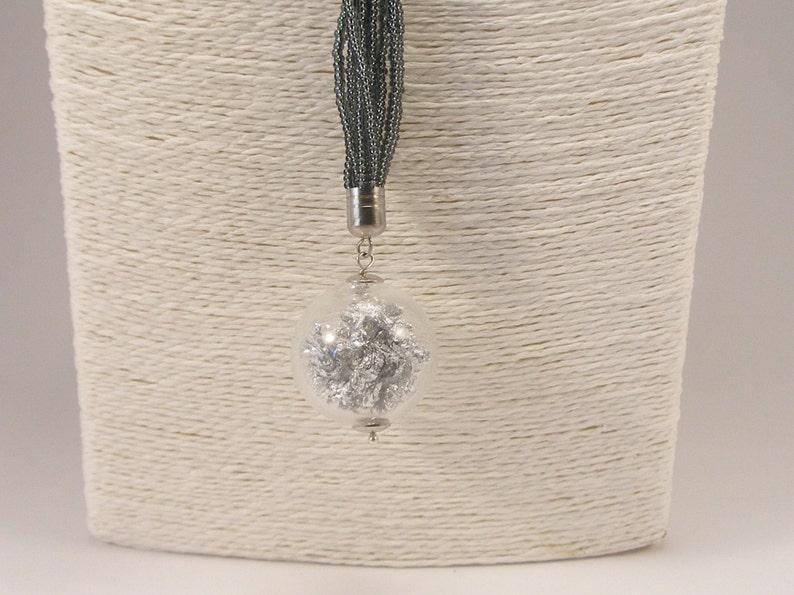 Venetian Jewelry seedbeads necklace Blown glass necklace Murano glass jewel sterling silver