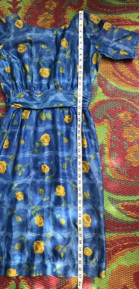 Vintage Dress Yellow Roses - image 4