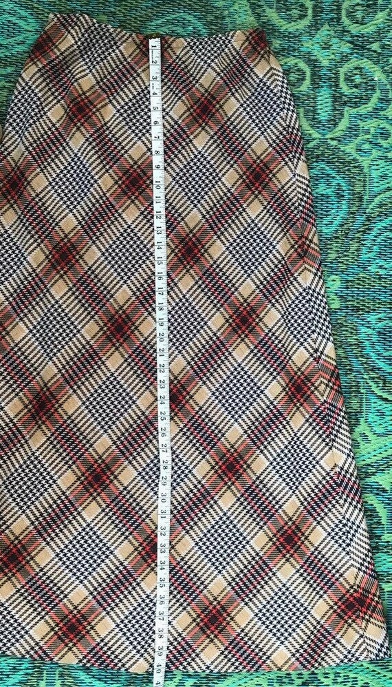Vintage Maxi Plaid Skirt - image 6