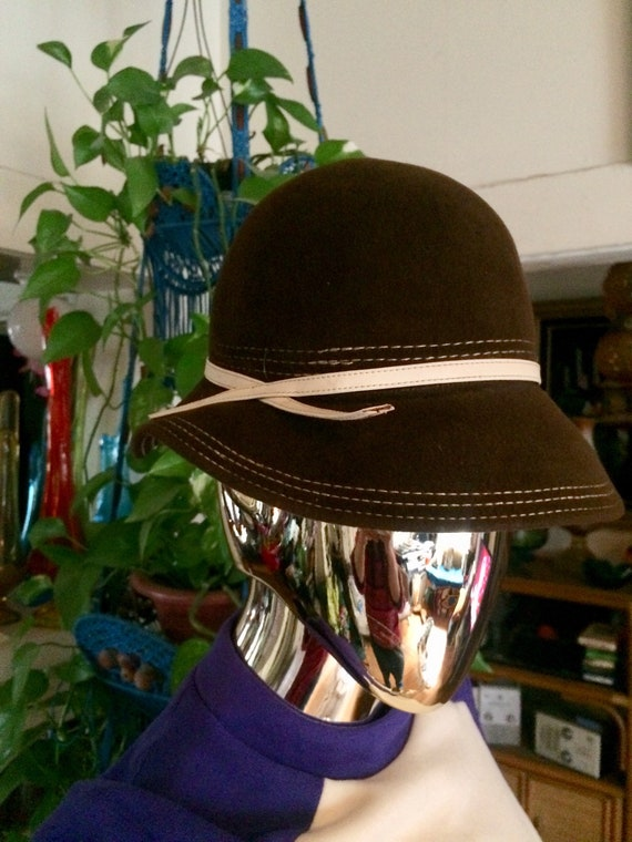 60s Brown Hat - image 1