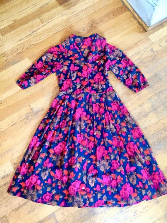Vintage 50s Floral Dress