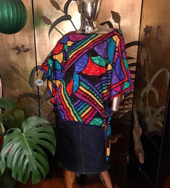Vintage Rainbow Blouse