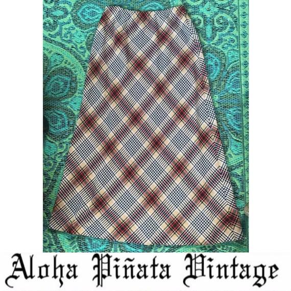 Vintage Maxi Plaid Skirt - image 1