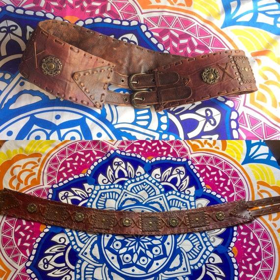 Vintage 70s Leather Belt