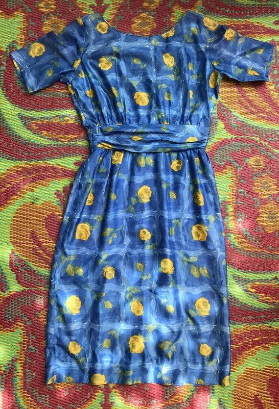 Vintage Dress Yellow Roses - image 8