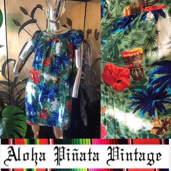 Vintage Hawaiian Dress Muumuu