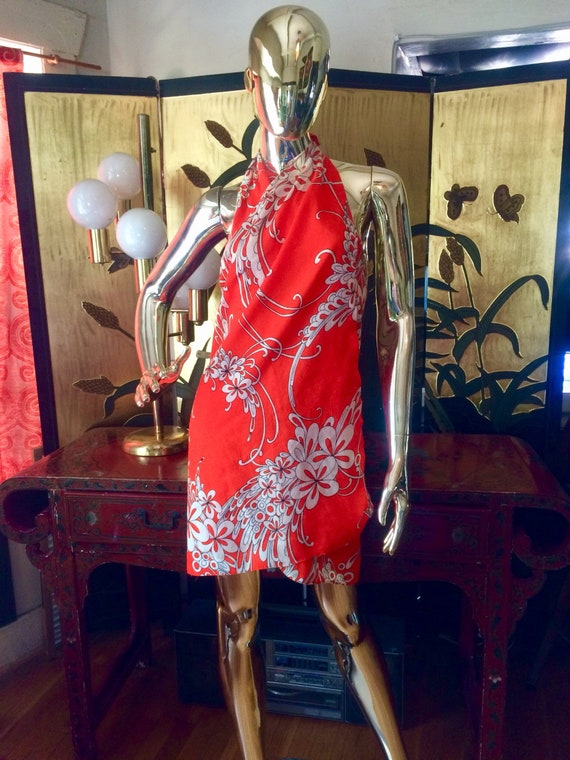 Vintage Hawaiian Sarong wrap Dress