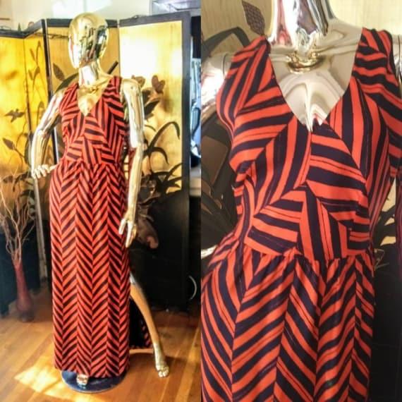 Vintage Halter Maxi Dress