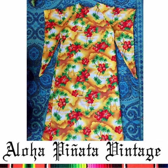 Vintage Hawaiian Kimono Dress
