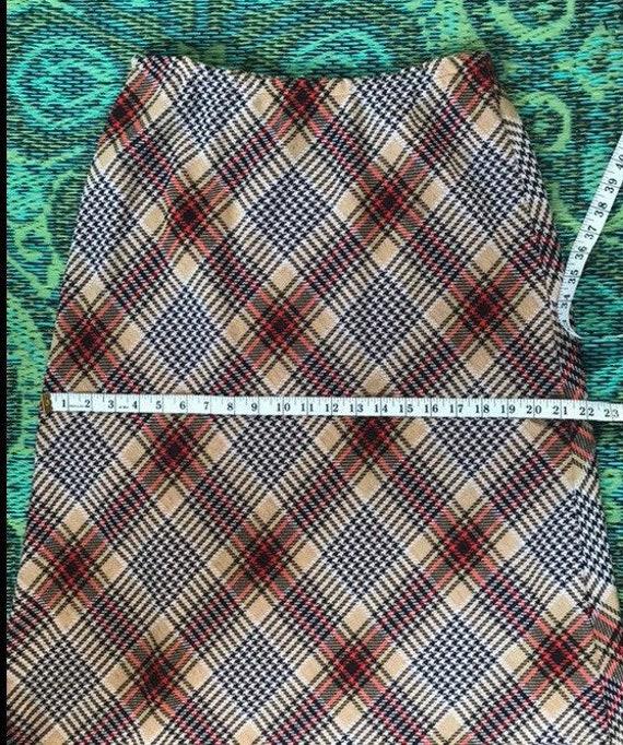 Vintage Maxi Plaid Skirt - image 5