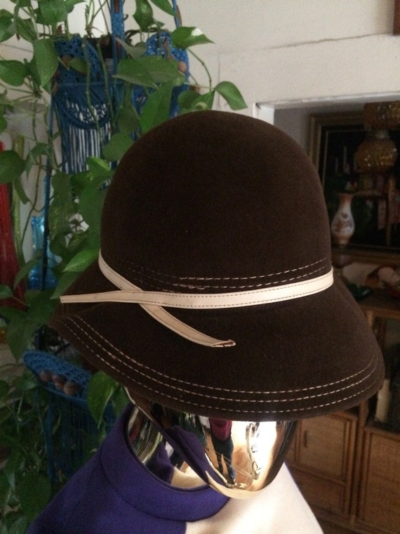 60s Brown Hat - image 4