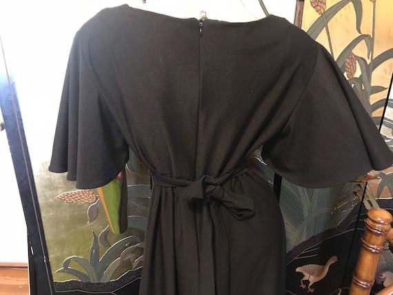 Vintage 70s Flutter Sleeve Maxi Dress - image 4