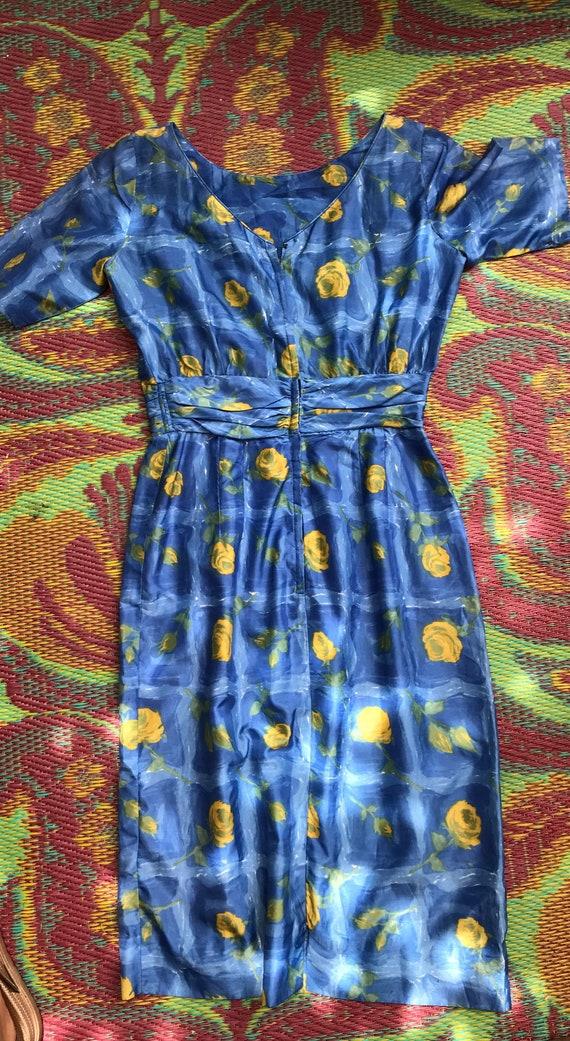 Vintage Dress Yellow Roses - image 3