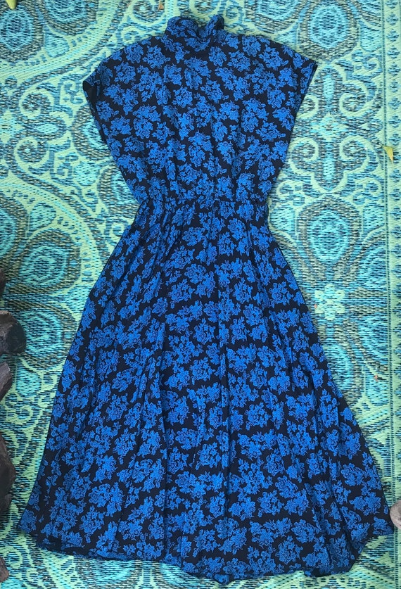 Vintage 80s Silk Dress