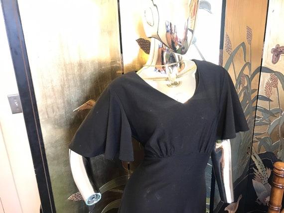 Vintage 70s Flutter Sleeve Maxi Dress - image 5