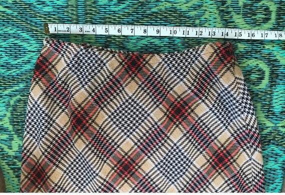 Vintage Maxi Plaid Skirt - image 7