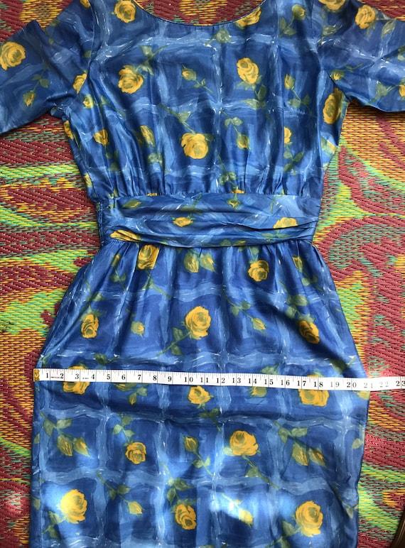 Vintage Dress Yellow Roses - image 5