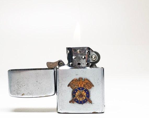 1950s Korea Lighter - Working Old Korean War 1950s Japan Made Flip Top Wellington Lighter