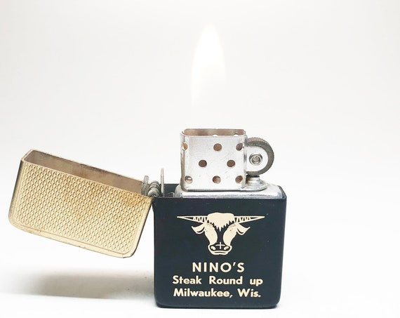 1950s Nino's Steak Round Up Meat Advertising Lighter