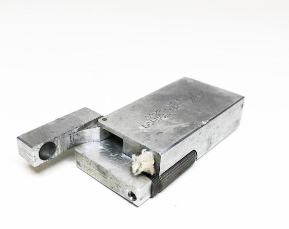 1940s Aluminum Block Advertising Lighter