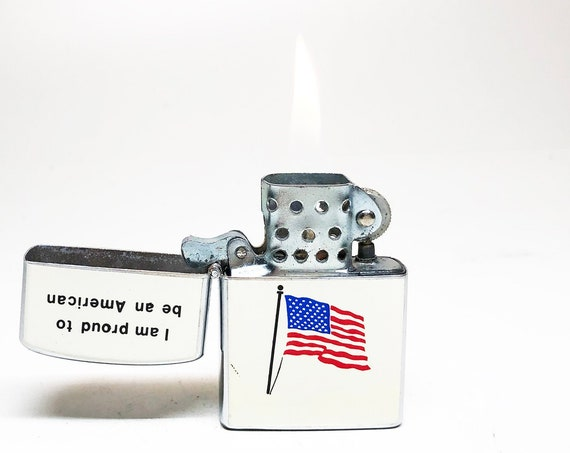 """1950s """"Proud to be an American"""" Lighter"""