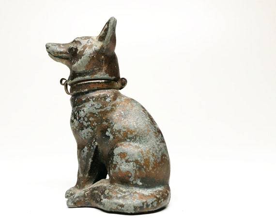 1912 Antique Wolf Dog Lighter