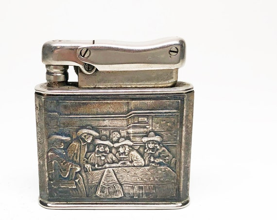 1940s Sterling Silver Sleeved Ibelo Monopol Lighter