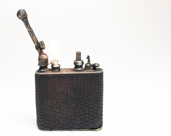 1920s Leather Wrapped Douglass Lighter
