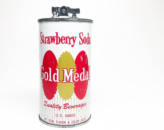 1950s Gold Medal Strawberry Soda Can Lighter