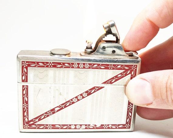 Rare 1930s Evans Smaller Model Case and Lighter Combo