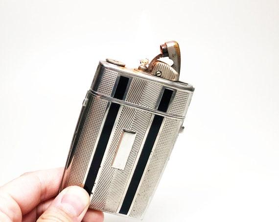 1940s Evans Clipper Lighter Cigarette Case Combo