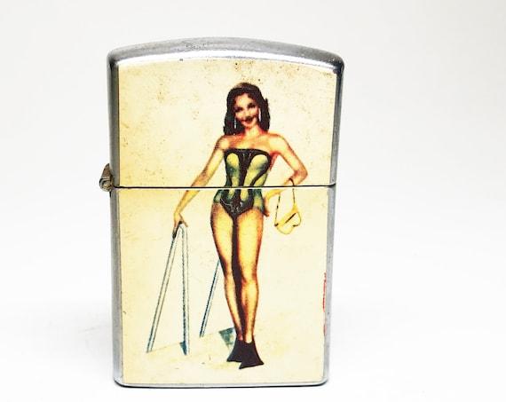 1950s Pinup Scuba Girl Lighter
