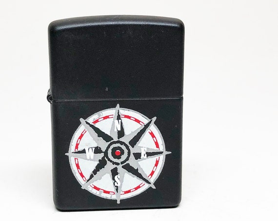 1998 Marlboro Compass Matt Black Zippo Lighter