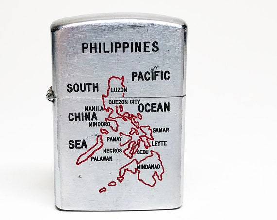1950s Philippines Map Lighter