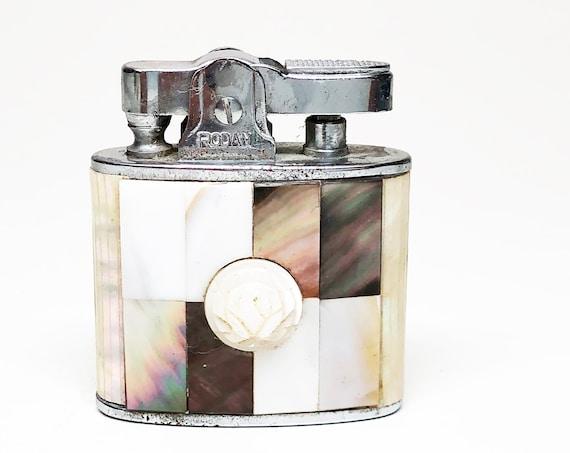 Mother of Pearl Lighter - Working Rhodan Ronson Standard MOP Style Rare 1950's Lighter
