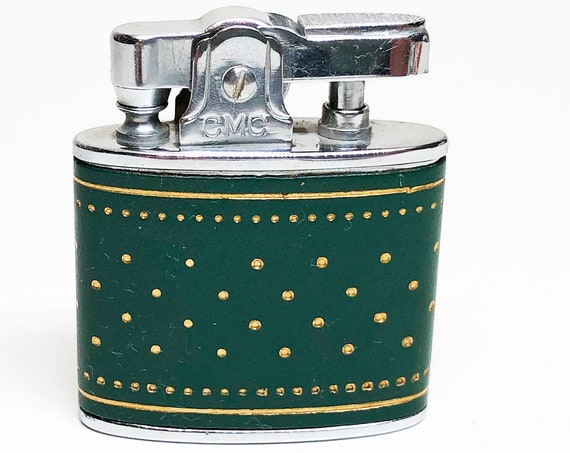 1950s Green Faux-Leather Wrapped Lighter