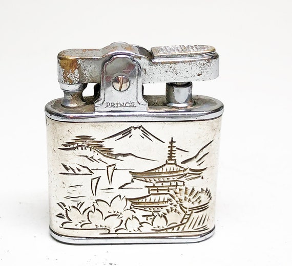Sterling Silver 1950s Japan-Themed Lighter