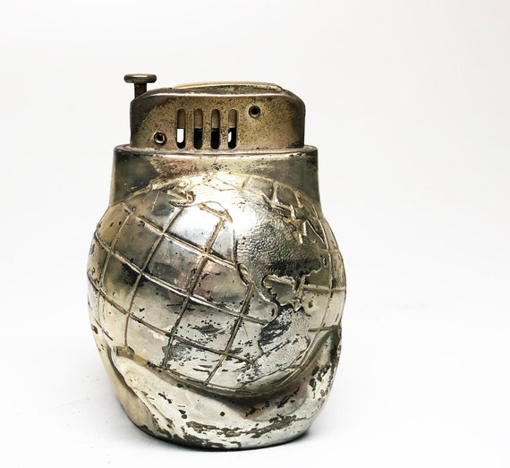 1950s Push Button Globe Shaped Lighter